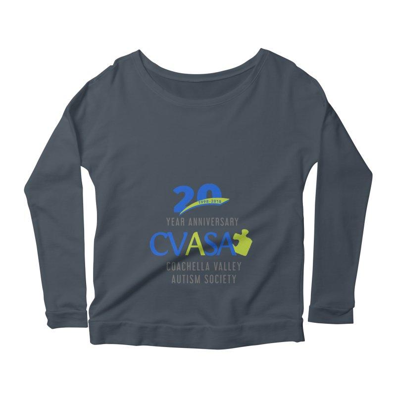 CVASA Logo Women's Scoop Neck Longsleeve T-Shirt by Coachella Valley Autism Society of America