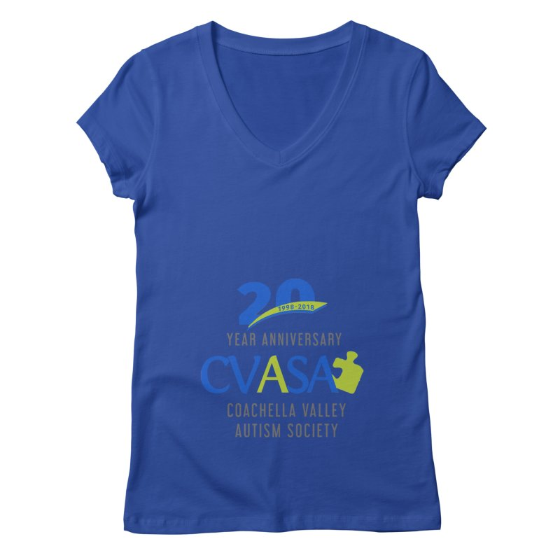 CVASA Logo Women's Regular V-Neck by Coachella Valley Autism Society of America