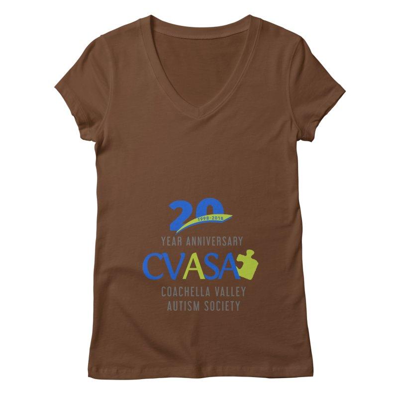 CVASA Logo Women's Regular V-Neck by Coachella Valley Autism Society of America