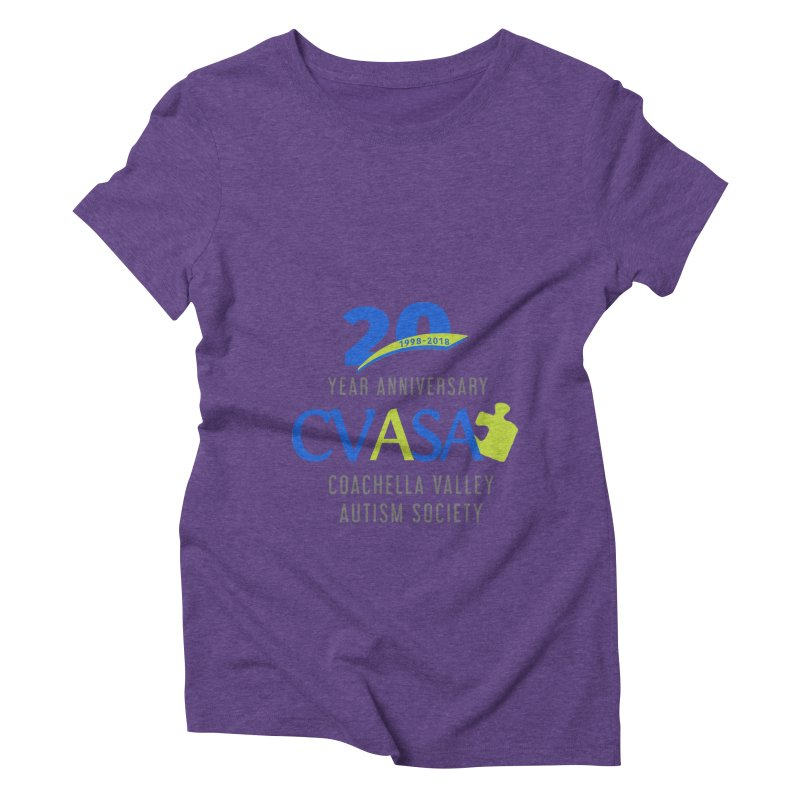 CVASA Logo Women's Triblend T-Shirt by Coachella Valley Autism Society of America