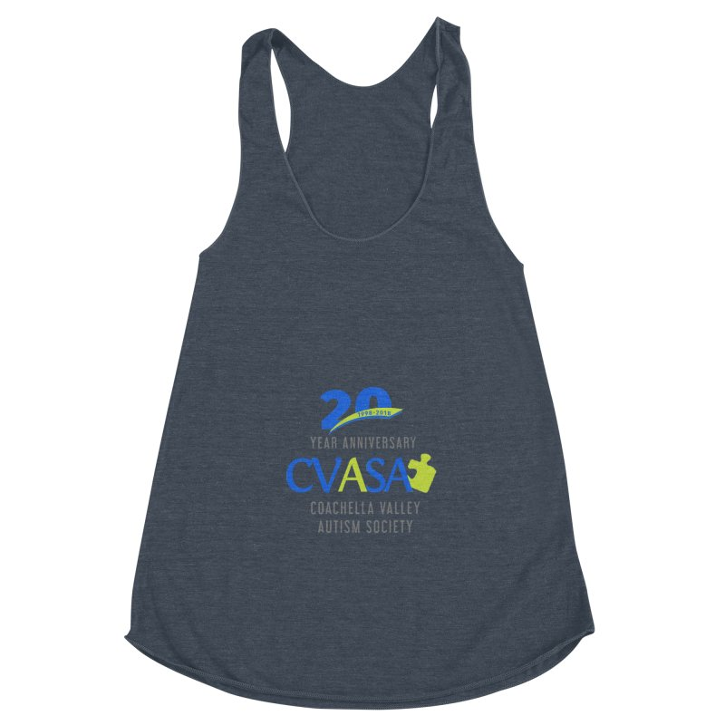 CVASA Logo Women's Racerback Triblend Tank by Coachella Valley Autism Society of America