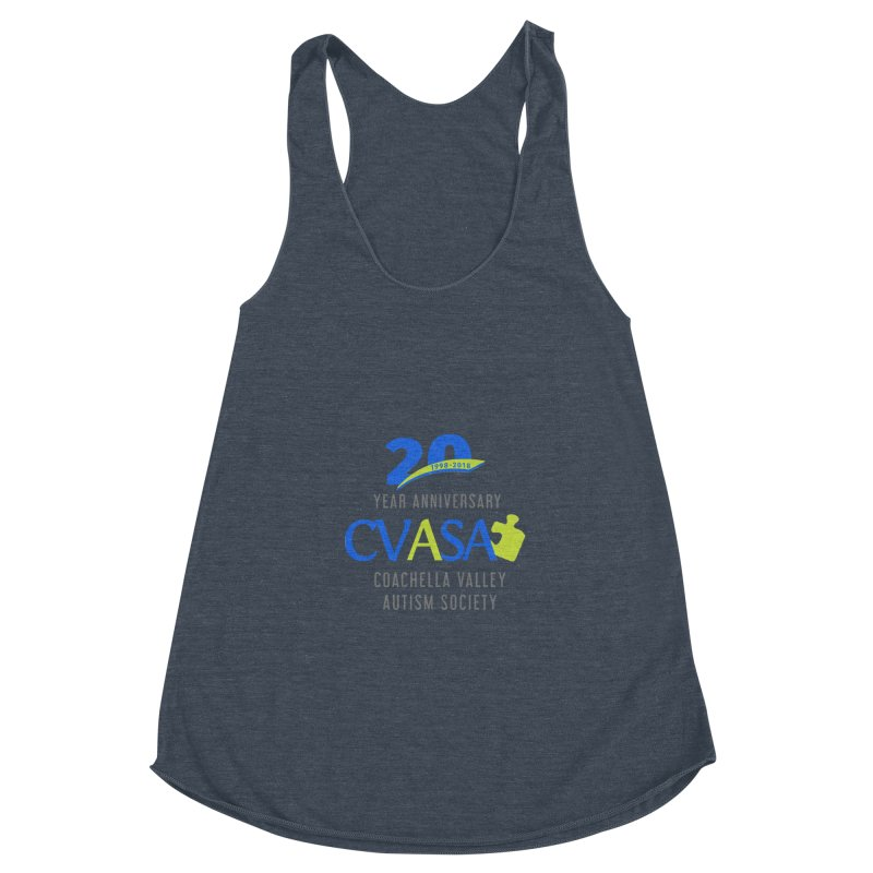 CVASA Logo Women's Racerback Triblend Tank by Coachella Valley Autism Society of America