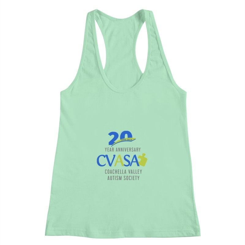 CVASA Logo Women's Racerback Tank by Coachella Valley Autism Society of America