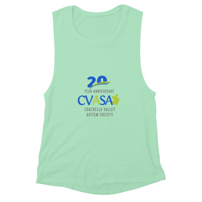 CVASA Logo Women's Muscle Tank by Coachella Valley Autism Society of America