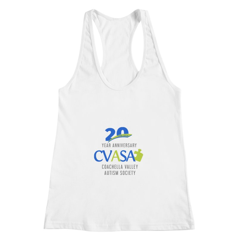CVASA Logo Women's Racerback Tank by Coachella Valley Autism Society of America