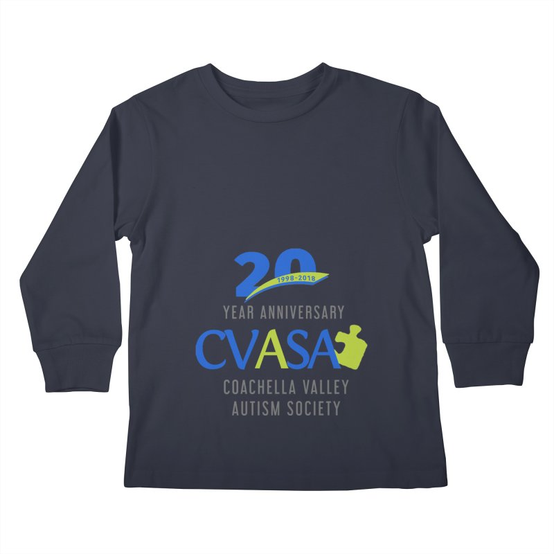 CVASA Logo Kids Longsleeve T-Shirt by Coachella Valley Autism Society of America