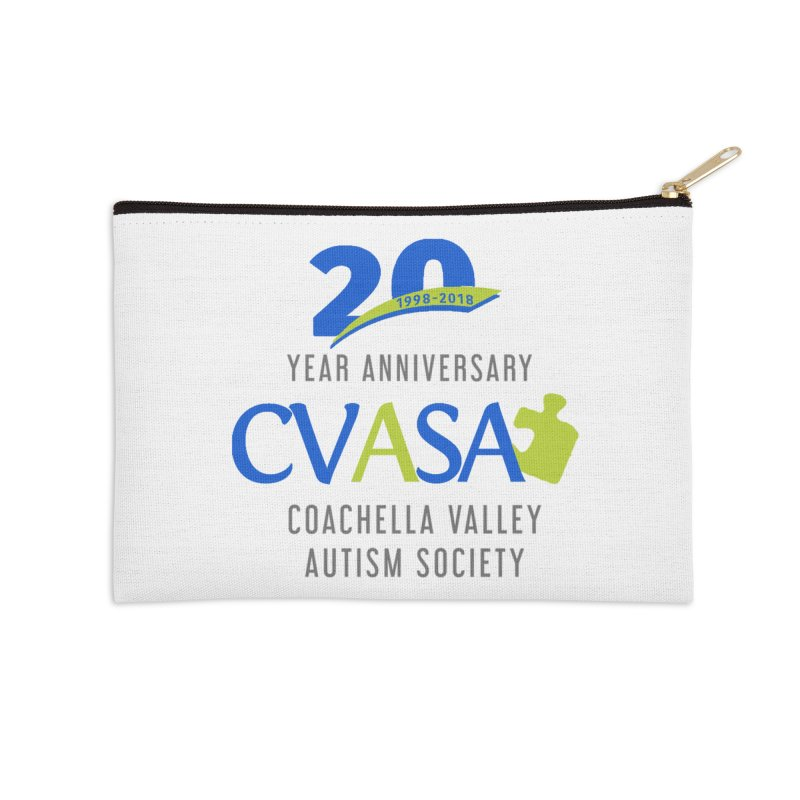 CVASA Logo Accessories Zip Pouch by Coachella Valley Autism Society of America