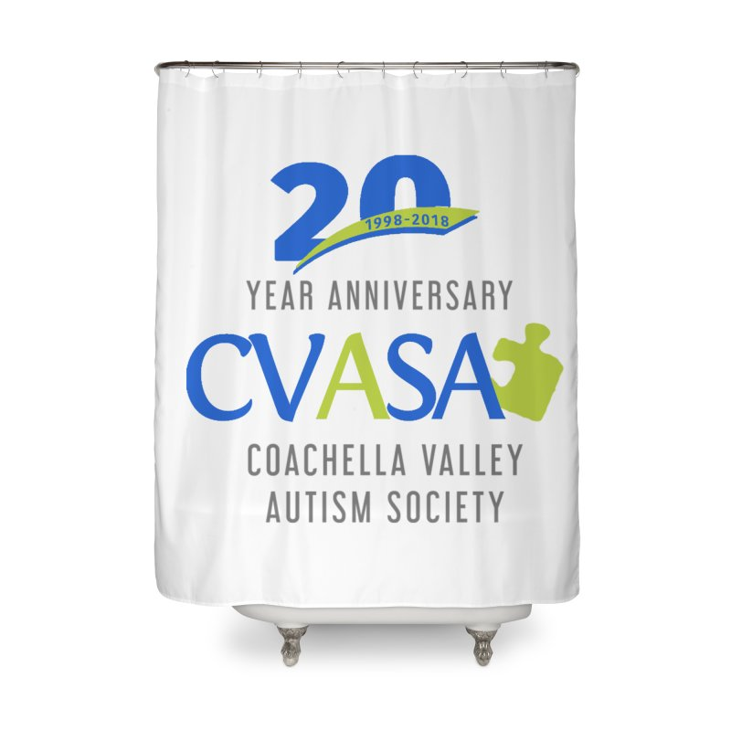 CVASA Logo Home Shower Curtain by Coachella Valley Autism Society of America