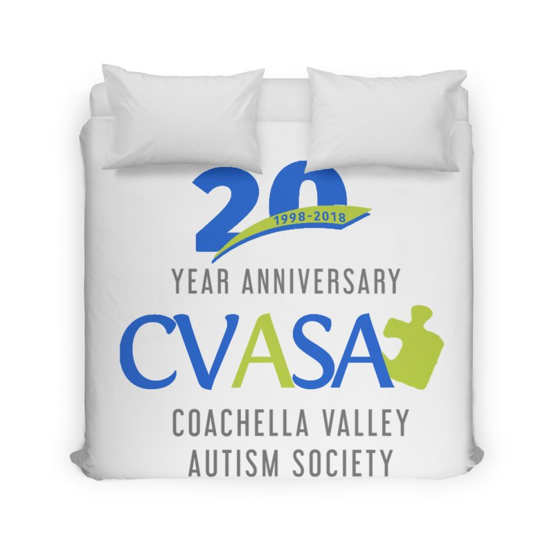 CVASA Logo Home Duvet by Coachella Valley Autism Society of America