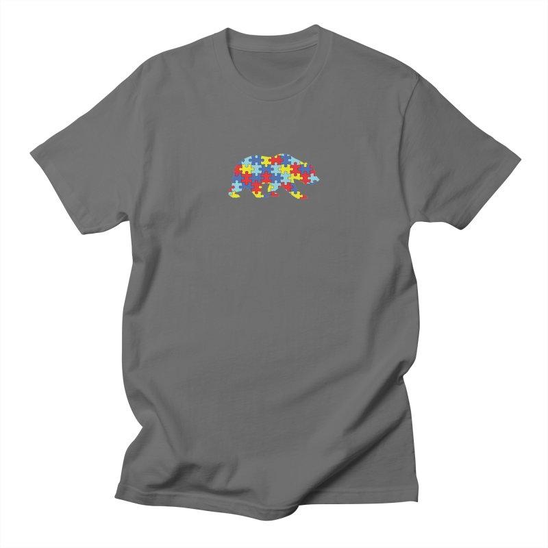 California Bear Men's T-Shirt by Coachella Valley Autism Society of America
