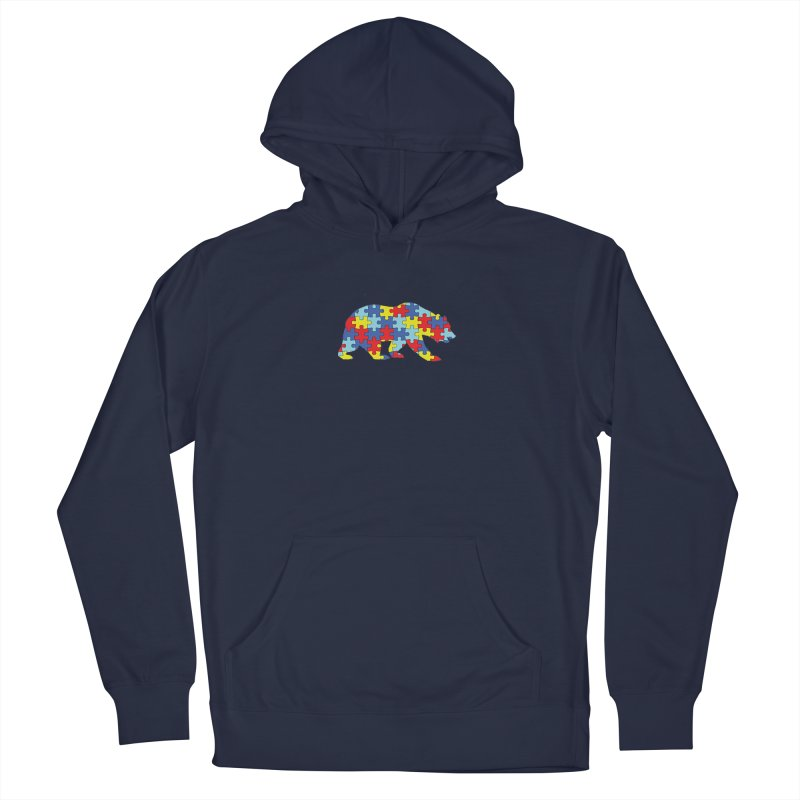 California Bear Women's French Terry Pullover Hoody by Coachella Valley Autism Society of America