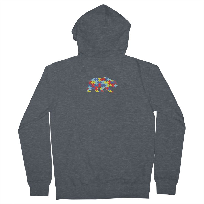 California Bear Men's French Terry Zip-Up Hoody by Coachella Valley Autism Society of America