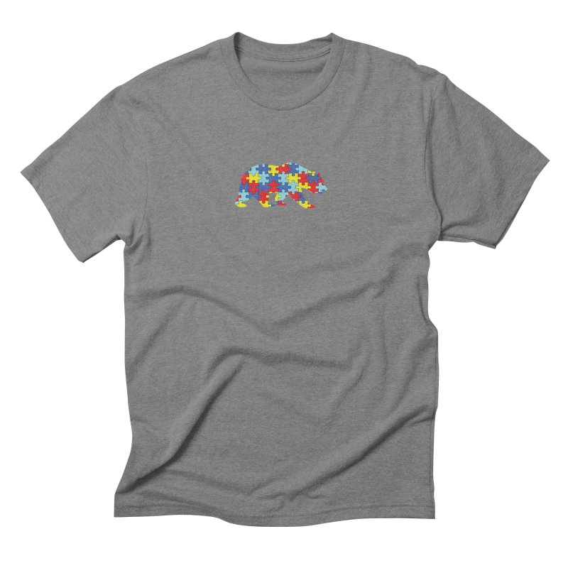 California Bear Men's Triblend T-Shirt by Coachella Valley Autism Society of America