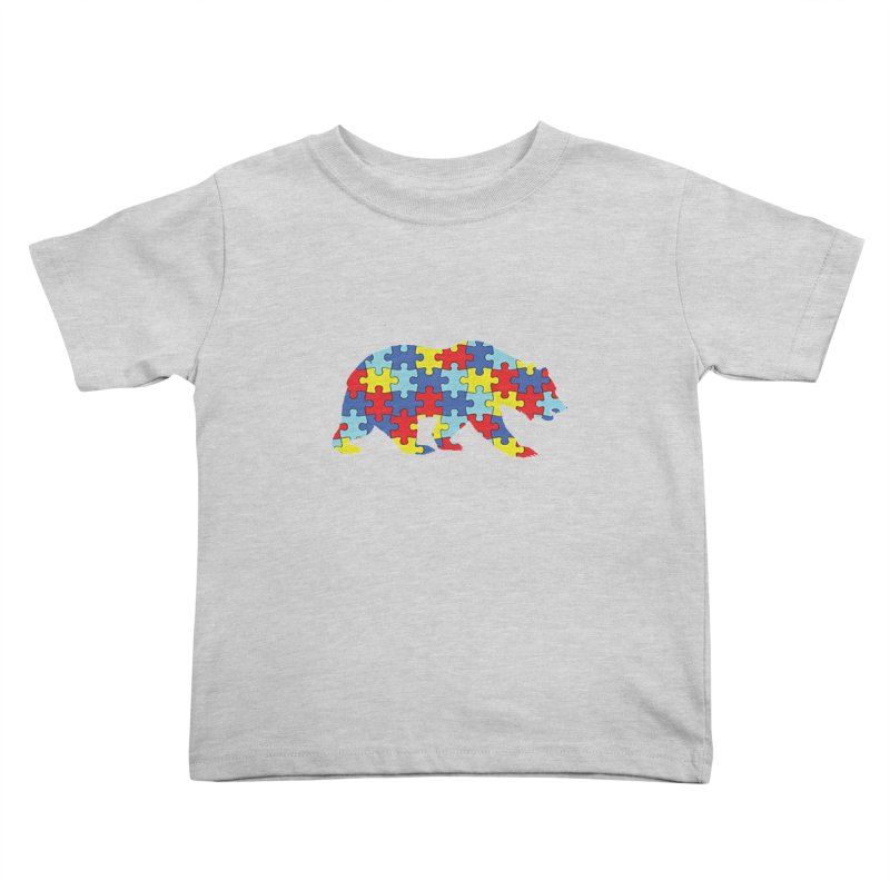 California Bear Kids Toddler T-Shirt by Coachella Valley Autism Society of America