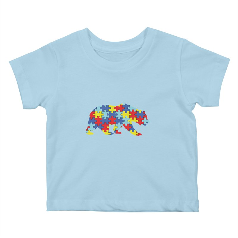 California Bear Kids Baby T-Shirt by Coachella Valley Autism Society of America