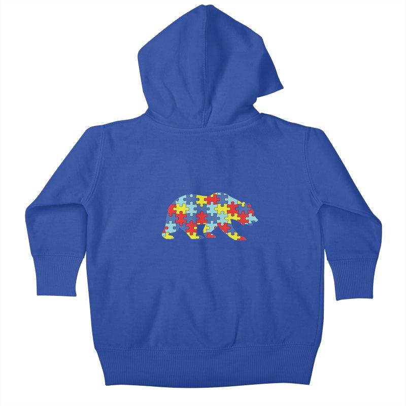 California Bear Kids Baby Zip-Up Hoody by Coachella Valley Autism Society of America