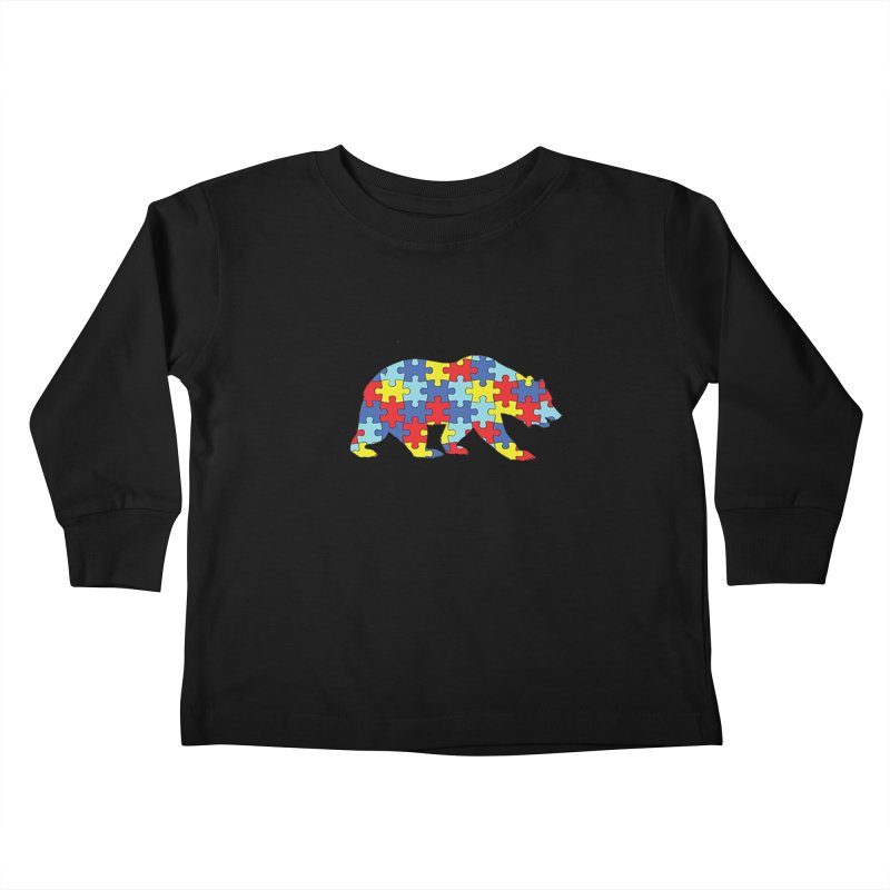 California Bear Kids Toddler Longsleeve T-Shirt by Coachella Valley Autism Society of America