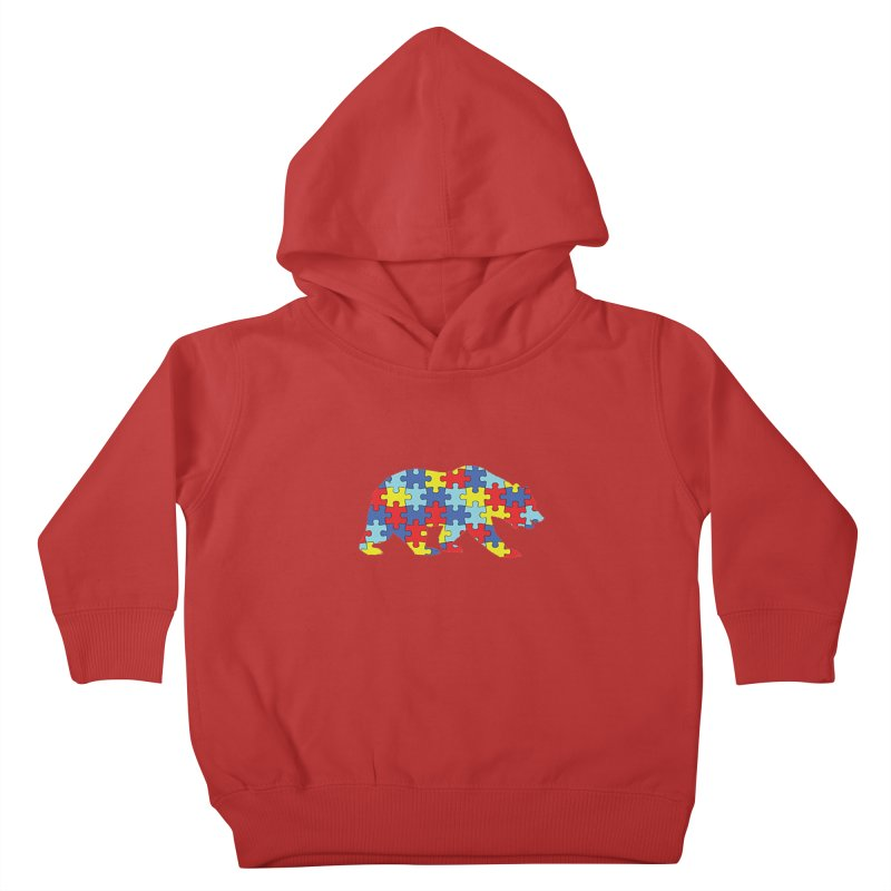 California Bear Kids Toddler Pullover Hoody by Coachella Valley Autism Society of America