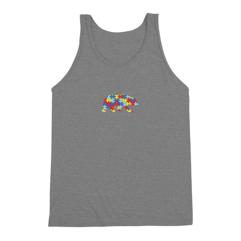 California Bear Men's Triblend Tank by Coachella Valley Autism Society of America