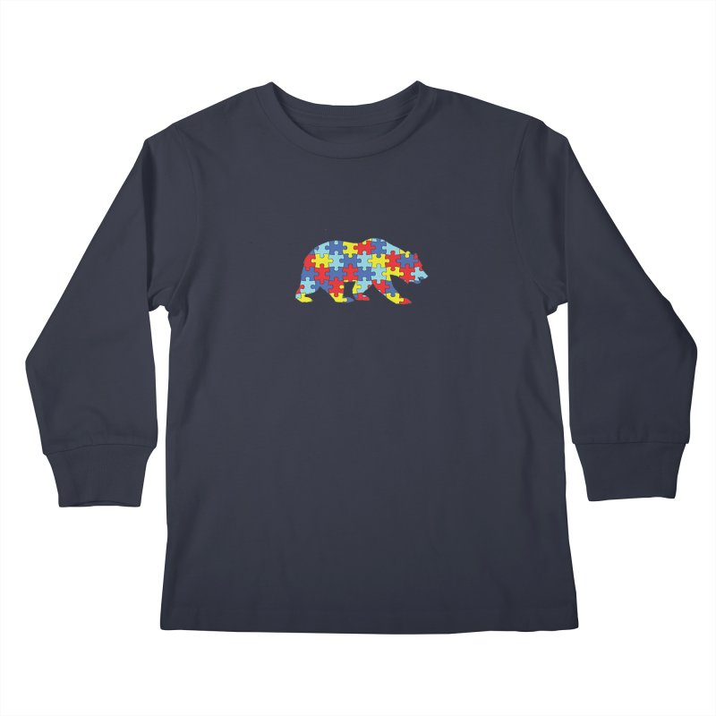 California Bear Kids Longsleeve T-Shirt by Coachella Valley Autism Society of America