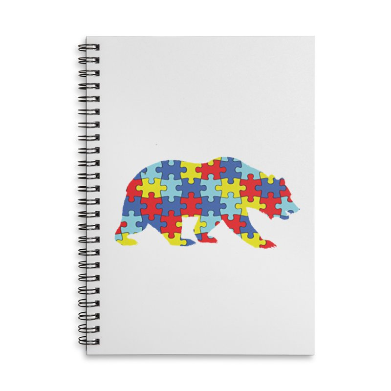 California Bear Accessories Lined Spiral Notebook by Coachella Valley Autism Society of America