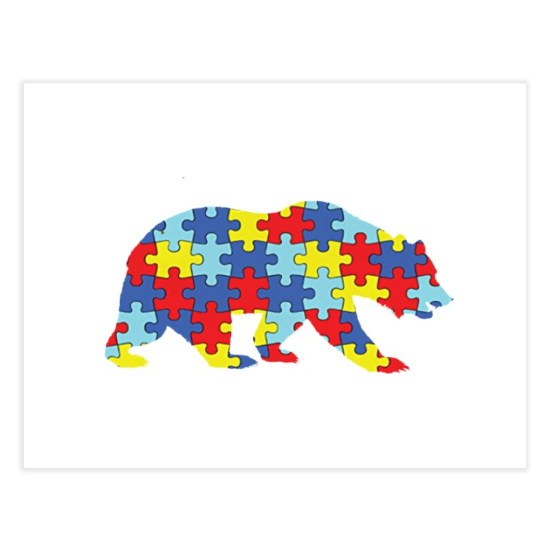California Bear Home Fine Art Print by Coachella Valley Autism Society of America
