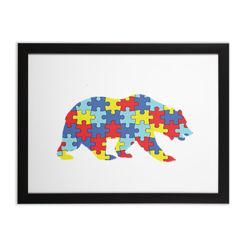 California Bear Home Framed Fine Art Print by Coachella Valley Autism Society of America
