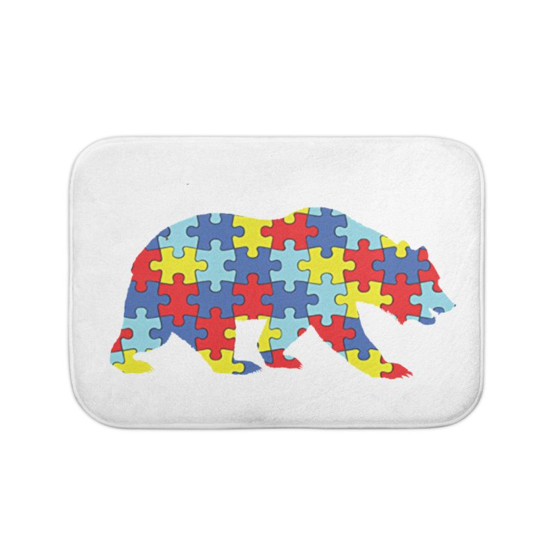California Bear Home Bath Mat by Coachella Valley Autism Society of America