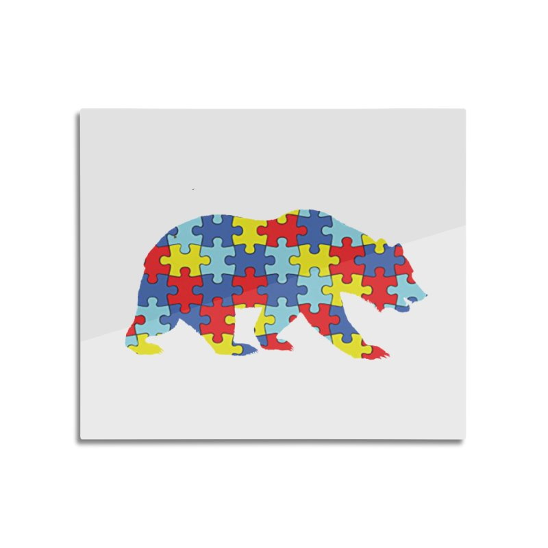 California Bear Home Mounted Aluminum Print by Coachella Valley Autism Society of America