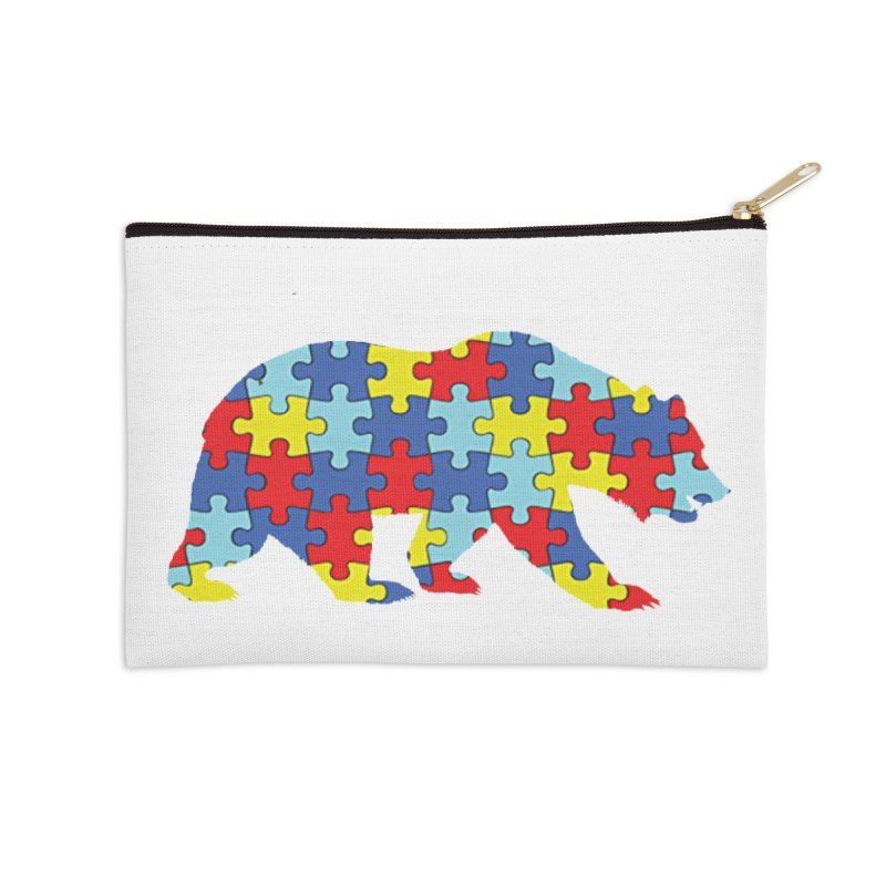 California Bear Accessories Zip Pouch by Coachella Valley Autism Society of America
