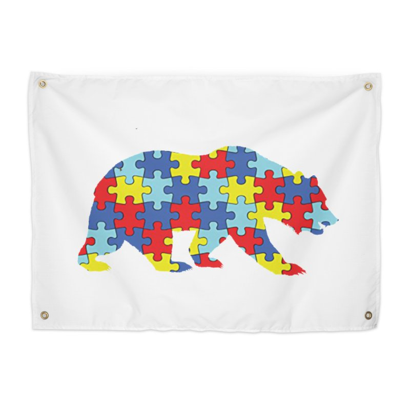 California Bear Home Tapestry by Coachella Valley Autism Society of America