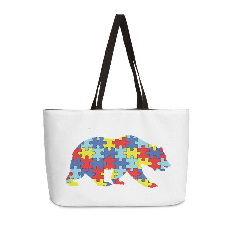 California Bear Accessories Weekender Bag Bag by Coachella Valley Autism Society of America