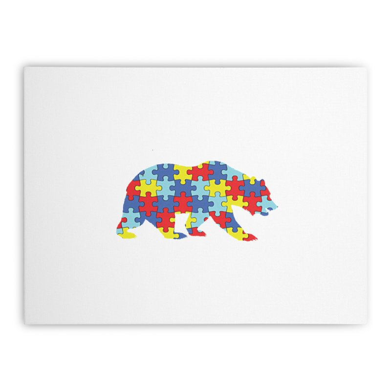 California Bear Home Stretched Canvas by Coachella Valley Autism Society of America