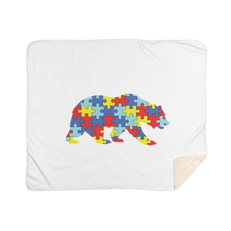 California Bear Home Sherpa Blanket Blanket by Coachella Valley Autism Society of America
