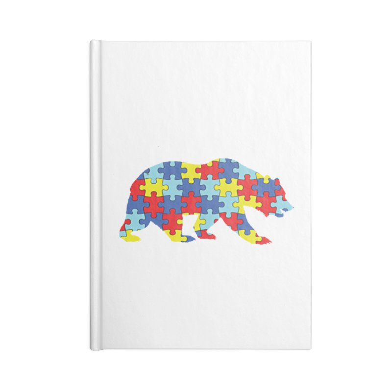California Bear Accessories Blank Journal Notebook by Coachella Valley Autism Society of America