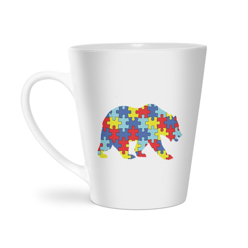 California Bear Accessories Latte Mug by Coachella Valley Autism Society of America