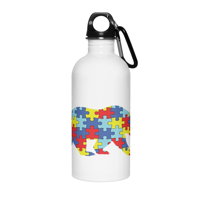 California Bear Accessories Water Bottle by Coachella Valley Autism Society of America