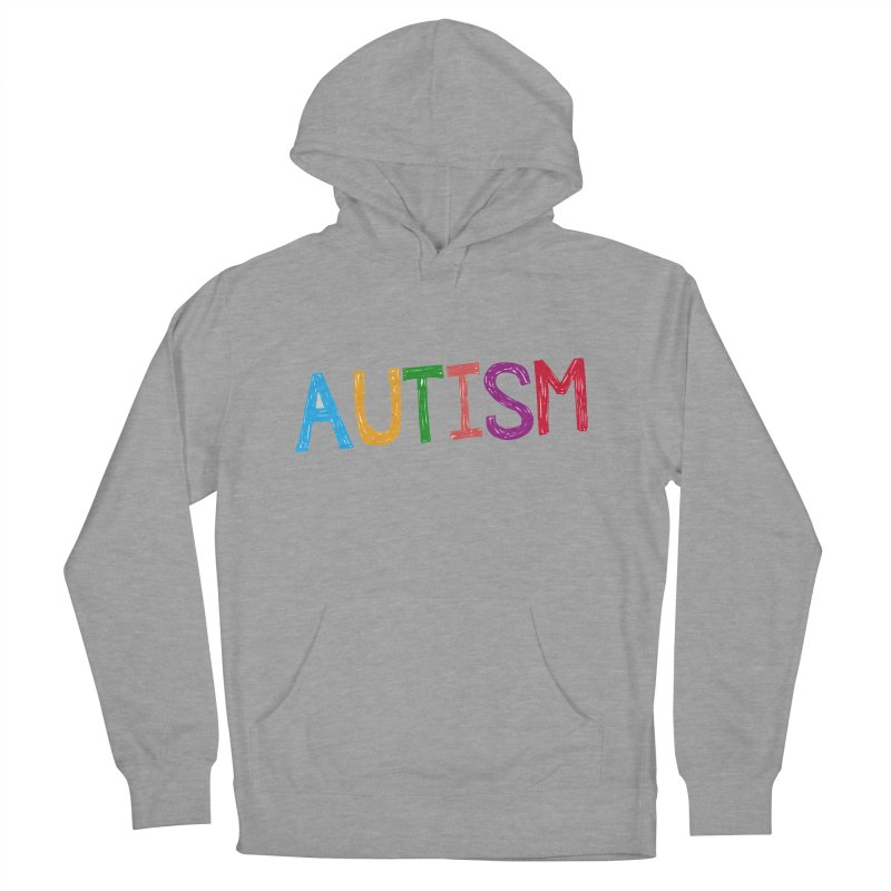 Marker Letters Women's French Terry Pullover Hoody by Coachella Valley Autism Society of America