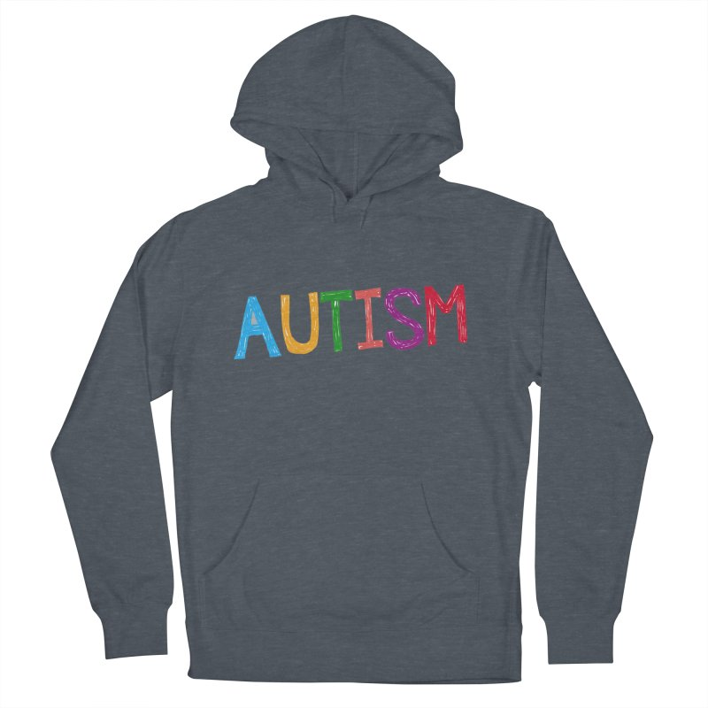 Marker Letters Men's French Terry Pullover Hoody by Coachella Valley Autism Society of America