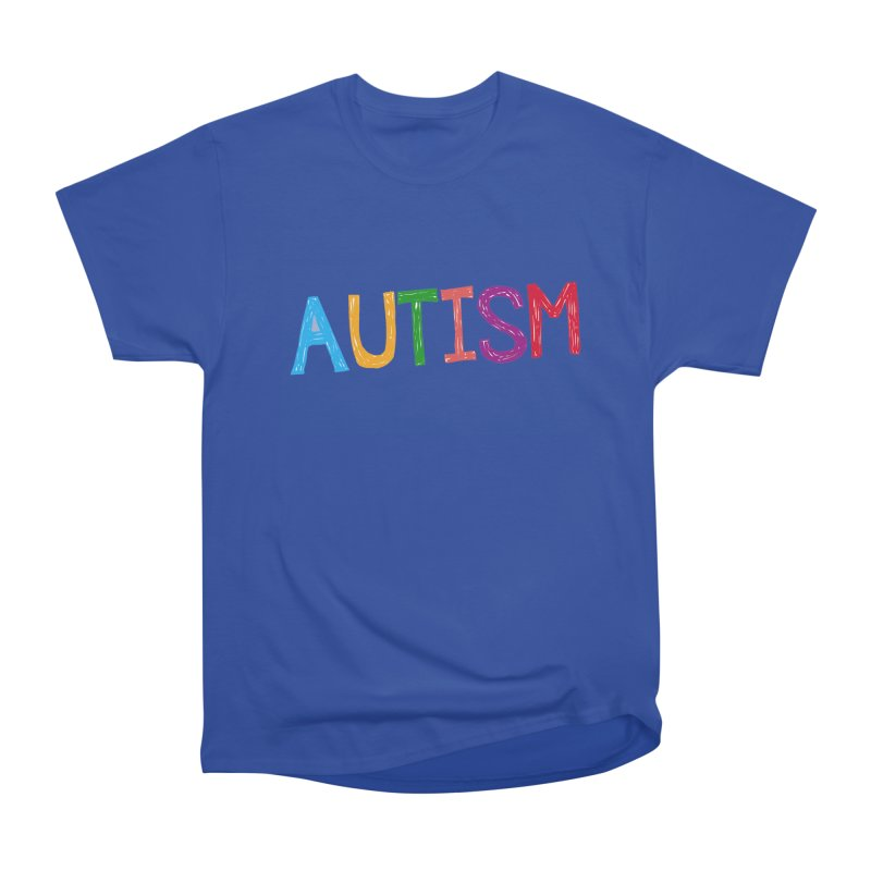 Marker Letters Women's Heavyweight Unisex T-Shirt by Coachella Valley Autism Society of America