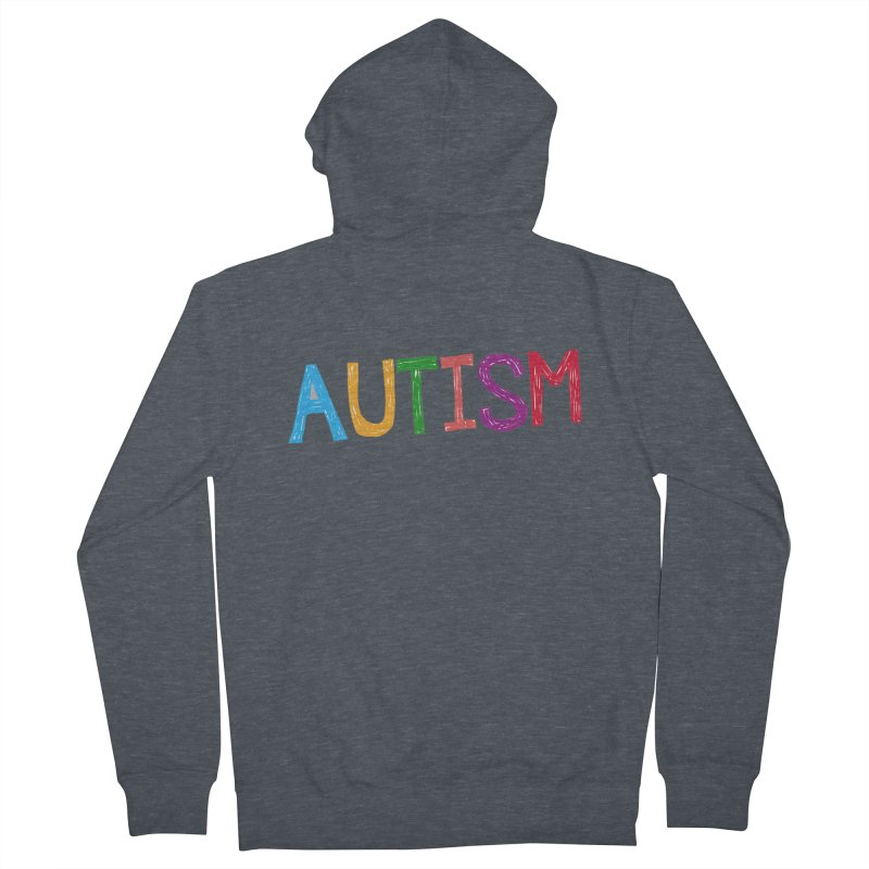 Marker Letters Women's French Terry Zip-Up Hoody by Coachella Valley Autism Society of America