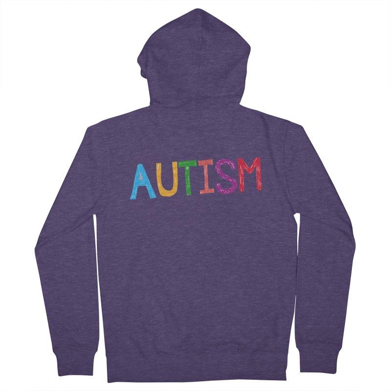 Marker Letters Men's French Terry Zip-Up Hoody by Coachella Valley Autism Society of America