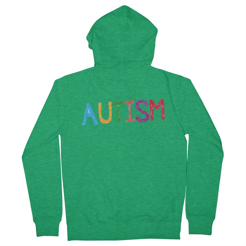 Marker Letters Men's Zip-Up Hoody by Coachella Valley Autism Society of America