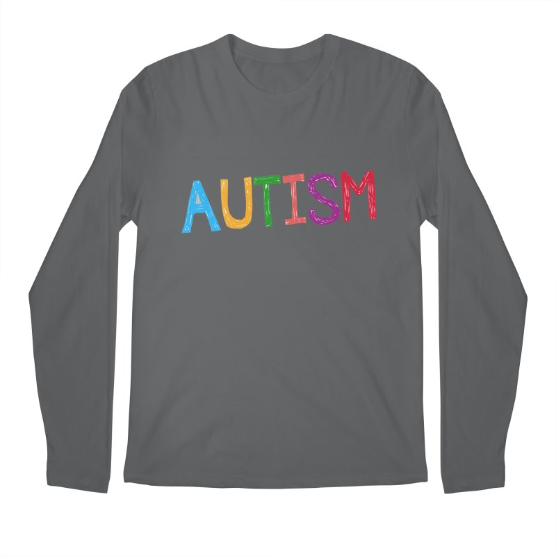 Marker Letters Men's Regular Longsleeve T-Shirt by Coachella Valley Autism Society of America