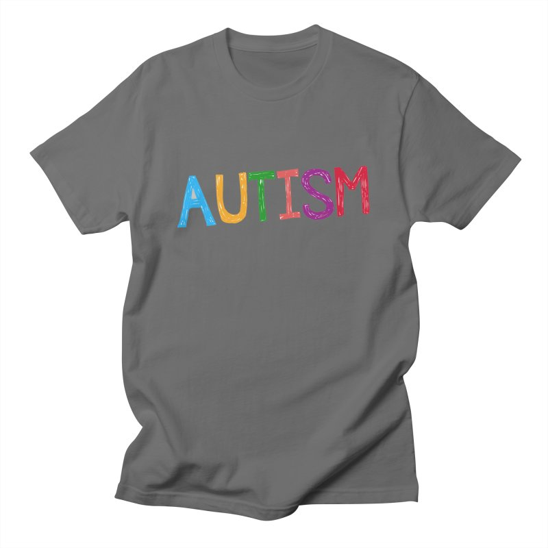 Marker Letters Men's T-Shirt by Coachella Valley Autism Society of America