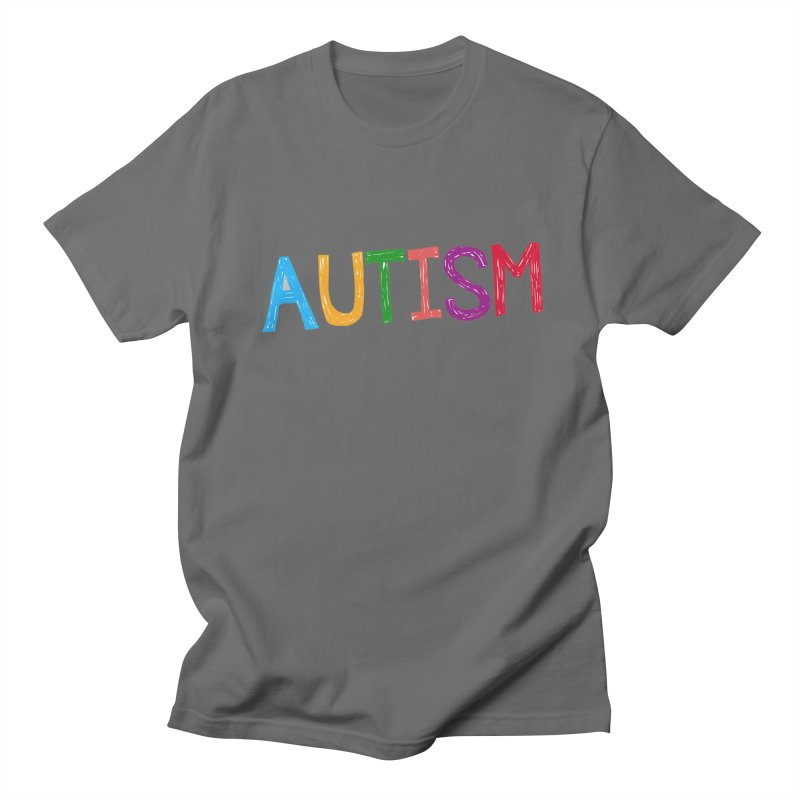 Marker Letters Women's Regular Unisex T-Shirt by Coachella Valley Autism Society of America