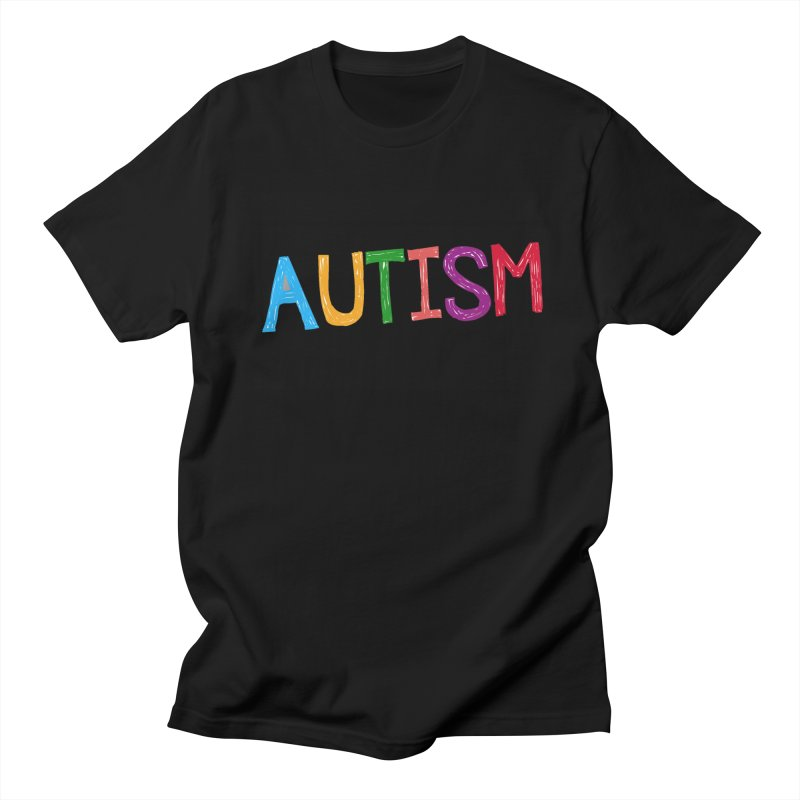 Marker Letters Men's Regular T-Shirt by Coachella Valley Autism Society of America