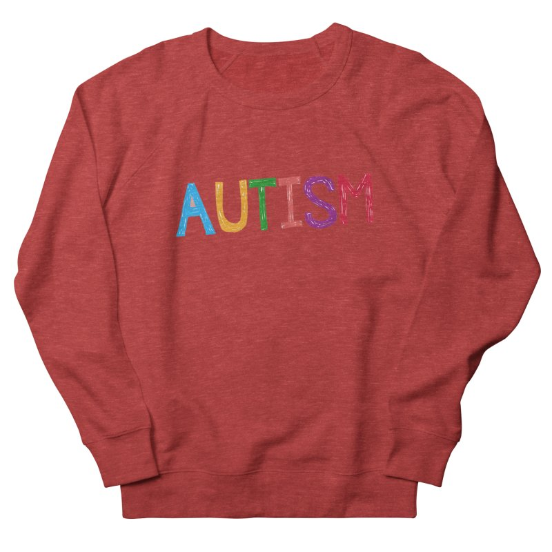 Marker Letters Men's French Terry Sweatshirt by Coachella Valley Autism Society of America
