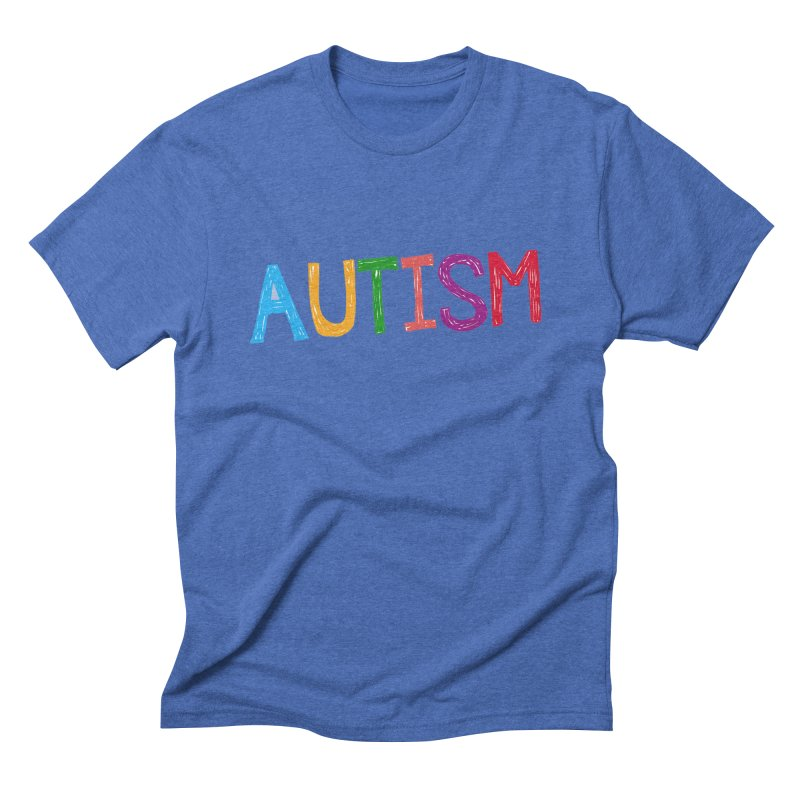 Marker Letters Men's Triblend T-Shirt by Coachella Valley Autism Society of America