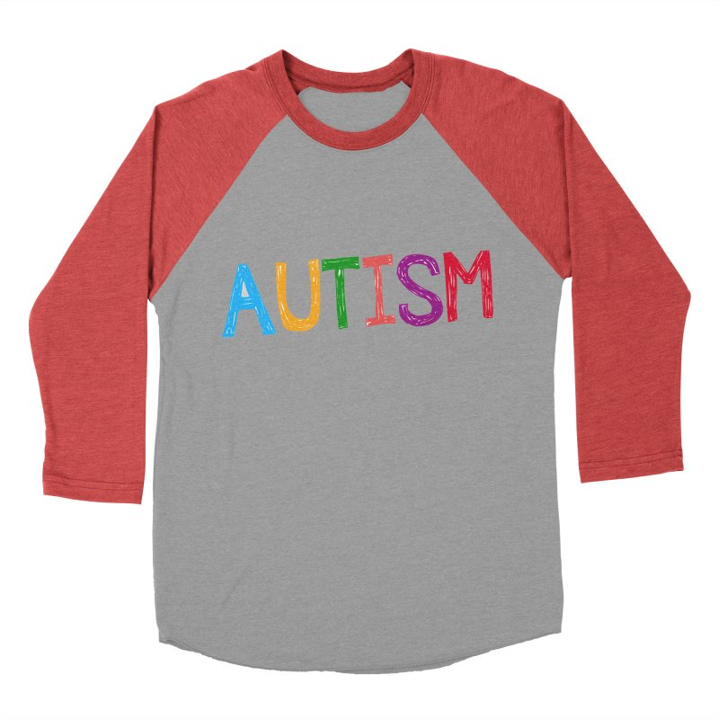 Marker Letters Men's Baseball Triblend Longsleeve T-Shirt by Coachella Valley Autism Society of America